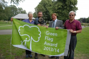 Cllr Stuart Parker with Dave James, Alan Redley, Joanne Redley and Blue